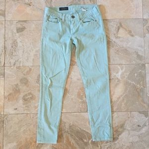 J. Crew Mint Toothpick Ankle Jeans size 25